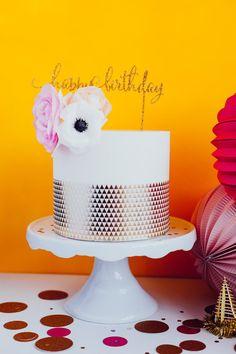 "Birthday Cake Topper, ""Happy Birthday"", Laser Cut, Acrylic"