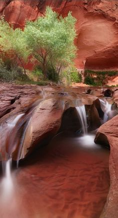 Waterfalls – Amazing Creation of Nature - Coyote Gulch Falls in Escalante Canyon, Utah