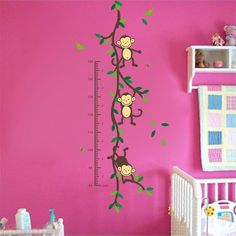 150cm Tree Monkey - Children Height Growth Chart Wall Stickers  #Hot #Trend #Discount #Buy #New #Sale