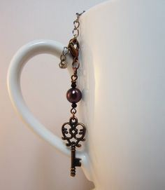 Copper Key Tea Infuser Charm-Antique Copper by CamilleLaLune