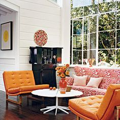 45 Bright, Bold Rooms | Graphic Art | CoastalLiving.com