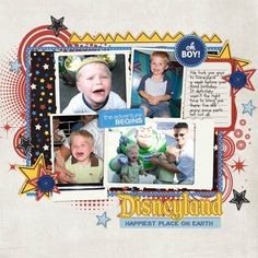 Funny Disney layout from Missys3lilbugs | Magic Memories Digital Scrapbook Kit from peppermintcreative.com