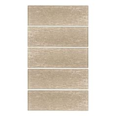 Jeffrey Court Edgewood 3 in. x 8 in. Glass Wall Tile, Beige/Ivory