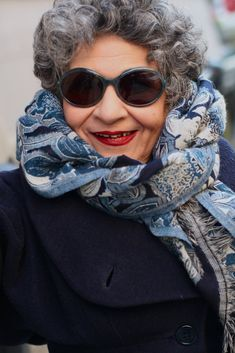 """I always have a blast with my pal Mary. At 71 years old she knows the secret to fooling mother nature, she says, """"Sunglasses are better than a facelift, they hide the ravages of time, and let you spy on people."""" Mary keeps her style chic and classic, but when it comes to glasses she says,""""You can break the rules once in a while, I'm not ready for a convent or anything so I can wear leopard glasses."""""""