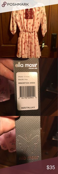 Brand new with tags girls size 8 Ella Moss dress Beautiful Brand new with tags girls size 8 Ella Moss dress - pink - 100% polyester Ella Moss Dresses