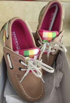 Super cute comfy shoes for spring into summer and then back to school for your little fashionista. Beautiful Sperry Top Sider quality with fun bright color plaid trim. Brand new in box. Never worn. Size 10M.   eBay!
