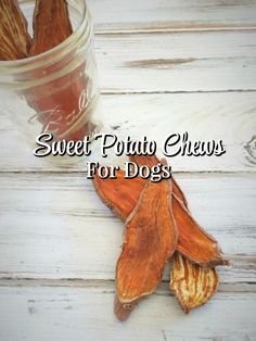 DIY sweet potato chews for dogs It doesn't get much simpler than these DIY sweet potato chews for dogs. Just 2 simple ingredients and your dog has a wholesome and yummy treat! via The Everyday Dog Mom Diy Dog Treats, Homemade Dog Treats, Dog Treat Recipes, Dog Food Recipes, Sweet Potato Dog Chews, Sweet Potatoes For Dogs, Clown Fish, Diy Pet, Food Dog