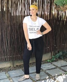 #mustardyellow #whitetee #blackpants #leopradprint #witchery #witcheryfasion #fashion #style #stylish #tassleearrings #blondehair #imageconsultant Post Pregnancy Clothes, Pre Pregnancy, Pregnancy Outfits, White Tees, Mustard Yellow, Fasion, Black Pants, Blonde Hair, Leo