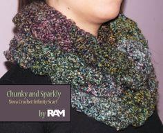 Nova Crochet Infinity Scarf by DesignsByRAMDesigns on Etsy, $25.00
