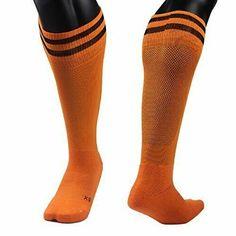 Meso Girls' 1 Pair Knee High Sports Socks for Baseball/Soccer/Lacrosse S(Orange) Combat Boots Socks, Rain Boot Socks, Socks For Flats, Thigh High Leg Warmers, Thigh High Tights, Thigh High Socks, Womens Wool Socks, Women Socks, Girls Knee High Socks