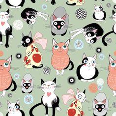 cat repeating background ---PicFish