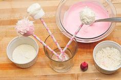DIY: Pink Marshmallow Pops