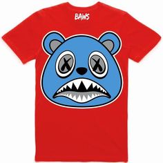 f55411e3041 UNC BAWS Red Sneaker Tees Shirt