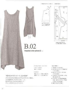 Linen Overalls Linen Apron Dress Washed Linen Summer Pinafore Brown Artist Smock Japanese Apron Flax Tunic Made to Order Plus Size Diy Clothing, Sewing Clothes, Clothing Patterns, Dress Patterns, Fashion Patterns, Sewing Aprons, Fashion Sewing, Diy Fashion, Sewing Hacks