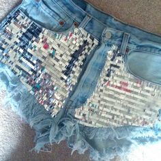 •Levi's Sequin High Waist Shorts• · New without tags, but does have a defect! Picture is provided. · Shipping was $15 and the shorts alone were $60! · Purchased from Etsy. · These came from Thailand! They took a month to arrive and they have a 'Thailand' smell, so please be advised!!! · High waist. · Levis!  · NO trades! · This item is firm @ $57! All offers will be declined! · No discount will be given if bundled with other items! · There is a 'NO returns' policy. Please be advised! Zara…