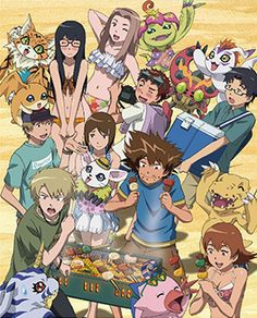 A DigiDestined beach party!
