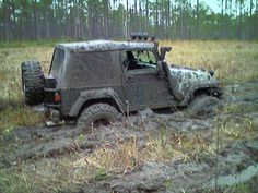 Mud bath, good for the pores, and the tire lugs.