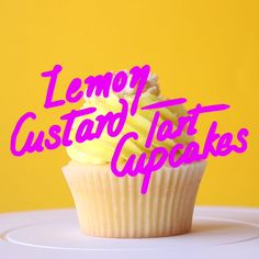 These lemon vanilla cupcakes have a delicious lemon custard centre and are topped with pie crust crumbs, yum!