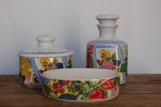 Vintage Gloria Vanderbilt Bathroom Set Porcelain by JunkyardElves