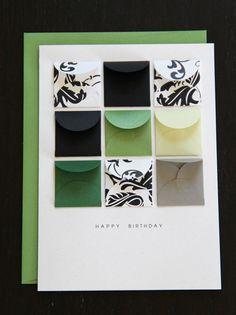 Handmade tiny envelopes—my punch
