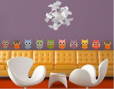 As you can see ... OWLS are just in vogue! ♥  (wall decal)
