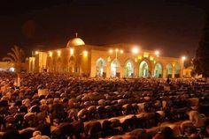 Ramadan night,Al Aqsa masjid,Palestine ~ Subhanallah
