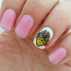 Looney tunes valentines nails