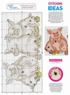 Pig Cross Stitch Pattern without Key Cross Stitch Love, Cross Stitch Cards, Cross Stitch Animals, Cross Stitch Designs, Cross Stitching, Cross Stitch Embroidery, Cross Stitch Patterns, Pig Crafts, Kids Patterns