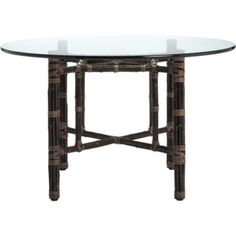 McGuire Furniture: Square Table with Four Legs in Black Bamboo: BA-14