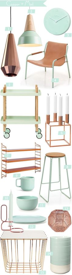 I am obsessed with Copper!!! Colour Crush Copper + Mint