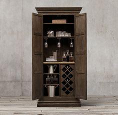 """17th C. Castelló Double-Door Bar Cabinet 43½""""W x 20""""D x 91½""""H"""
