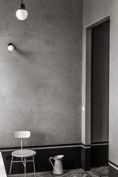 Une salle de bain graphique | Guest toilet, Interiors and Small ...