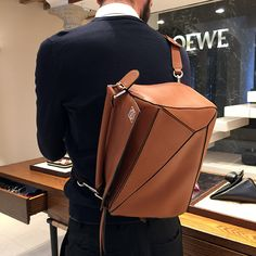 I Can Wear it How?…Loewe& Puzzle Bag « The Sartorialist Loewe Puzzle, Puzzle Bag, Backpack Bags, Leather Backpack, Loewe Bag, Fashion Bags, Mens Fashion, Comme Des Garcons, Cloth Bags