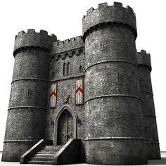 3d castle construction set