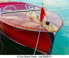 Stock Photo - Two-toned classic wooden boat docked at side slip - stock image, images, royalty free photo, stock photos, stock photograph, stock photographs, picture, pictures, graphic, graphics