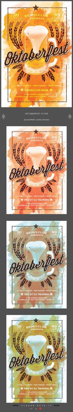 Oktoberfest Flyer  — PSD Template #beverage #beer fest • Download ➝…