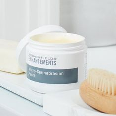 ENHANCEMENTS Micro-Dermabrasion Paste is a high-glide, oil-free formula designed to help promote maximum gentle exfoliation. Use intermittently to visibly improve skin tone and texture. Lucky Magazine reports that it smoothes away rough spots. Thing 1, Exfoliating Scrub, Exfoliating Products, Dull Skin, Natural Glow, Combination Skin, Skin So Soft, Smooth Skin, Peda