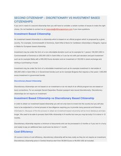 Second citizenship – discretionary vs investment based citizenships Offshore Bank, International Bank, Citizenship, Ways To Save, Proposal, Investing, This Or That Questions, Business, Number