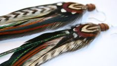 Natural Beauty Feather Earrings by JazdyneDesigns on Etsy, $26.00