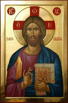 Christ the Ruler of All. Images Of Christ, Religious Images, Religious Icons, Religious Art, Byzantine Icons, Byzantine Art, Religion, Christ Pantocrator, Greek Icons