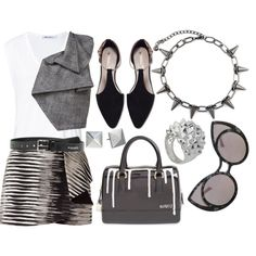 Simple Set #4 by stacey-lynne on Polyvore featuring T By Alexander Wang, Haider Ackermann, Giuliana Romanno, Zara, Furla, Stephen Webster, Michael Kors, Acne Studios, simpleset and 2015
