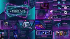CyberPunk PowerPoint Template Free Powerpoint Presentations, Powerpoint Design Templates, Booklet Design, Ppt Template, Cyberpunk, Dashboard Design, Brochure Design, Powerpoint Background Design, Presentation Design