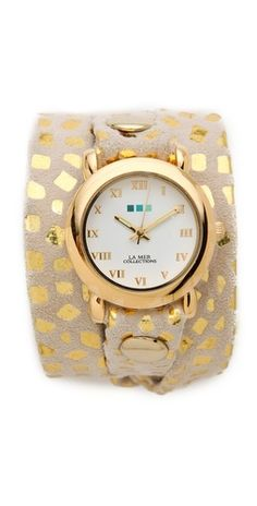printed wrap watch / la mer collections