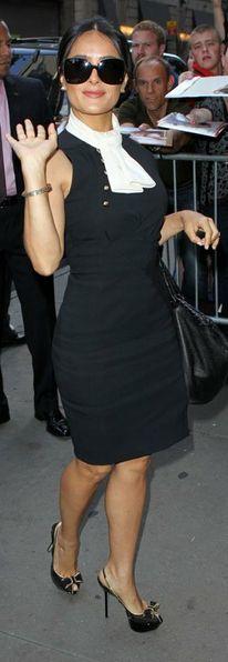 Salma Hayek  Dress – Altuzarra  Purse – Bottega Veneta   Shoes – Sergio Rossi   Keep the Glamour   BeStayBeautiful