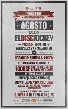 Cresta Metálica Producciones » Taller de DiscJockey (DJ) 25, 27 y 30 de Agosto en La Pizarra