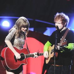 Taylor Swift & Ed Sheeran. I cannot wait to see the both of them in May! :D