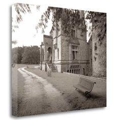 "Tangletown Fine Art 'Banc de Jardin - 60' Photographic Print on Wrapped Canvas Size: 21"" H x 26"" W"