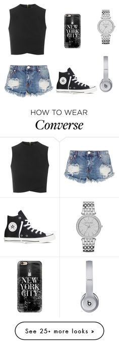 """"""""""" by elizabethamacker on Polyvore featuring Topshop, One Teaspoon, Casetify…"""