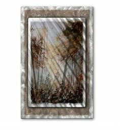 All My Walls POL00240 Wooded Scene Hanging Metal Art by All My Walls. $365.00. Add a touch of class to your home decor with our extensive line of metal wall art pieces featuring Belgium artist Pol Ledent's watercolor and oil paintings. These metal wall hangings consist of torch-cut 18-gauge steel layers, stud construction, and one-of-a-kind hand-sanding, which creates a three dimensional visual effect that is comparable to a hologram. With over 500 paintings t...