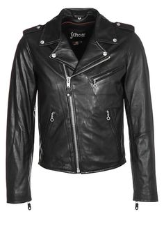Schott NYC PERFECTO - Leather jacket - schwarz for £334.99 (17/02/17) with free delivery at Zalando